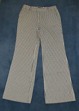 Woman's Perry Ellis Pants Off-White with Blue Stripe (8)