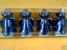 Quatre brillant bleu métallisé ZARA HOME Angel FIGURE Bougies Entièrement neuf dans sa boîte