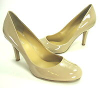 NINE WEST WOMEN'S AMBITIOUS PUMPS TAUPE SYNTHETIC PATENT US SIZE 11 MEDIUM (B)M
