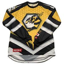 Ski Doo Team Men's Size Small Long Sleeve Hornet Bee Jersey Yellow Blue NEW