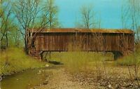 Rockville Indiana~Rush Creek Covered Bridge~14-61-31~1966 Postcard