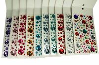 Assorted Sizes ROUND Gemstone 106 Pcs Self Adhesive Acrylic Rhinestones Stickers