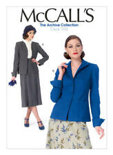 McCall's Sewing Pattern M6995 Misses' Jackets 6-14 with Shaped Cuffs Retro 1933