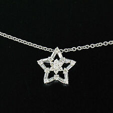 NUEVO 14k ORO BLANCO 40.6cm 0.64ctw Redondo Diamante Baguette ABIERTO Estrella