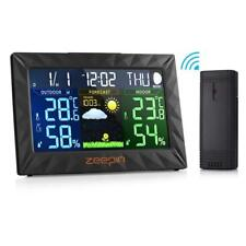 Zeepin Wireless Weather Station,Indoor Outdoor Thermometer Color Home Alarm Cloc