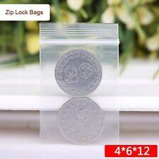 100PC Mini Clear Ziplock Poly Plastic Zipper Bags 1.5X2.4