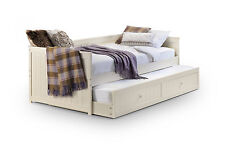 JESSICA DAY BED WITH UNDERBED GUEST BED IN CREAM BY JULIAN BOWEN PINE  MDF