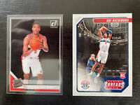 2019-20 Clearly Donruss #58 Rui Hachimura Rated Rookie Wizards Plus Threads #87