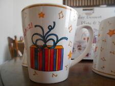 Holiday Gifts Mug 12 oz Peace Christmas Genuine Stoneware White Red Yellow !