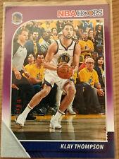2019-20 Panini NBA Hoops Klay Thompson #60 Purple Parallel Refractor