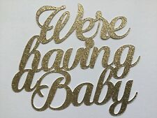 We're having a Baby baby shower cake topper, many colours available
