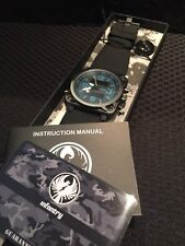 INFANTRY Mens Army Sport Quartz Digital / Analog With Blue Accents Watch Wow!