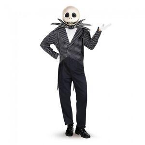 Nightmare Before Christmas Jack Skellington Deluxe Halloween Costume XL (42-46)