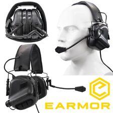 Cuffie EARMOR Opsmen M32 Riduzione Rumore + NRR22 Militari e da Poligono  BLACK 6e1f9d09215f
