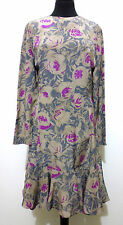 GAI MATTIOLO Abito Vestito Donna Seta Flower Woman Silk Party Dress Sz.S - 42