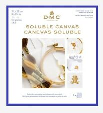 DMC Water Soluble Canvas 14ct Cross Stitch Embroidery Fabric Stabiliser NEW