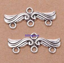 wholesale 10pcs Tibetan silver charm earring Connectors fit Beads bracelet 30mm