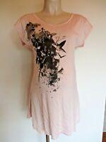 MAMALICIOUS MATERNITY ROSE PINK PRINT TUNIC DRESS T-SHIRT SIZE 10 12 14 16 BNWT