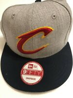CLEVELAND CAVALIERS GREY NEW ERA 9FIFTY HAT CAP NBA BASKETBALL SNAPBACK