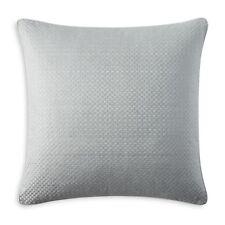 Hudson Park Tessera Embroidered Cotton Blend Euro Pillow Sham Slate Blue i1406