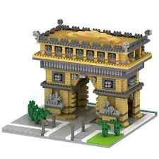Architecture Arch of Triumph Gate Mini Micro Diamond Building Nano Block Toy