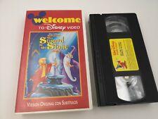PELICULA VHS DISNEY´S THE SWORD IN THE STONE V.O. VERSION ORIGINAL DISNEY