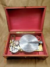 "Antique Thorens Ad30 4-1/2"" Disc Player W/ Flat Tip Comb & 5 Discs (See Video)"