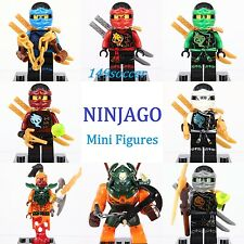 8Pcs set Ninjago Dogshank Kai Jay Cole Zane Nadakhan Custom Lego Minifigures