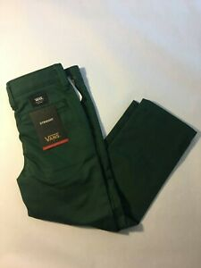 Vans New Authentic Chino Stretch Pants Youth Boys Size 5