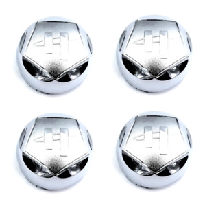 "Set of 4 Helo Chrome Center Cap 3.5"" 88mm OD for HE789 HE791 5X127 5x135 6x135"