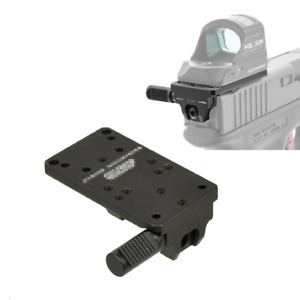 Glock 17 19 22 23 Rear Sight Mount Plate Base Fit Universal Red Dot Sight Pistol