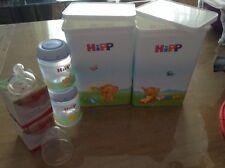 Baby Ernährung Hipp Milchpulverbehälter+flasche+antikolik Trinksauger 3x