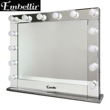 80 x 65cm Hollywood lighted Makeup Mirror Make Up Beauty Dressing Room Vanity SI