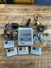 SNES Super Nintendo Games Console Bundle 4 Games Mario kart Street Fighter