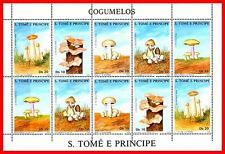 ST.THOMAS 1988 MUSHROOMS M/S SC#820a MNH CV$18.00 FOOD PLANTS