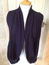 Reiss Ladies Navy Drape Front Waistcoat Size Small. Brand New With Tags.