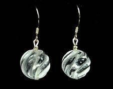 Schöne Ohrringe aus facettierten Bergkristall 925er Silber Ohrhaken