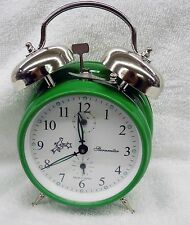 ALARM CLOCK-  MAY GREEN -DOUBLE BELL -MECHANICAL -MADE IN SERBIA MM11160234