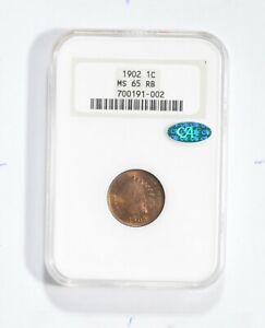 MS65 RB 1902 Indian Head Cent - CAC - Graded NGC *1773