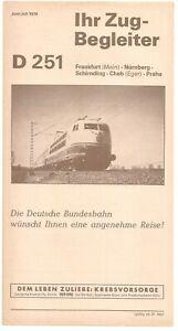Ihr Zugbegleiter (IZB - DB) D 251, Frankfurt (Main) - Praha, Juni/Juli 1979