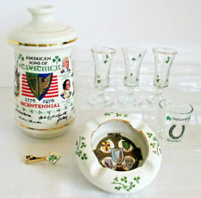 Irish Lot American Sons of St. Patrick Arklow Ashtray 7 Pieces