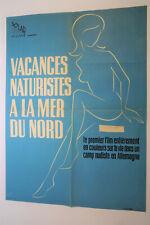 Affiche cinéma originale vacances naturistes a la mer du nord