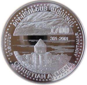 1999 ARMENIA COMMEMORATIVE SILVER COIN PROOF 50,000 DRAM ARMENIAN - AGHTAMAR -