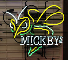 "New Mickeys Bumble Bee Hornet Beer Bar Pub Man cave Garage Neon Sign 17""X14"
