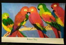 Loros-perroquets por Walasse Ting, impresión