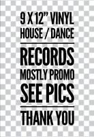 """TRANCE 9 X 12"""" House Dance -12"""" Vinyl Records All Titles In Pics Mostly Promo Ex"""