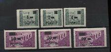 Istria Litorale Sloveno 1946 Segnatasse serie cpl nuova linguellata MH N1655