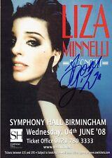 Liza Minnelli Hand Signed Autographed Original 2008 Concert Flyer