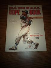 1973 SPORTING NEWS BASEBALL DOPE BOOK HANK AARON ATLANTA BRAVES