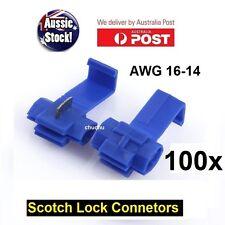 100PCS WIRE CONNECTOR SCOTCH LOCK QUICK SPLICE BLUE WIRE TERMINALS AUTO CAR